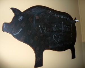 Our chalkboard to-do list.